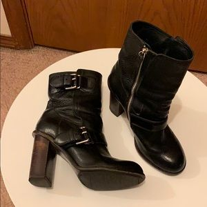 Theory black leather boots, size 7.5